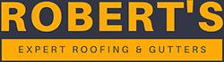 Robert's Expert Roofing & Gutters Logo